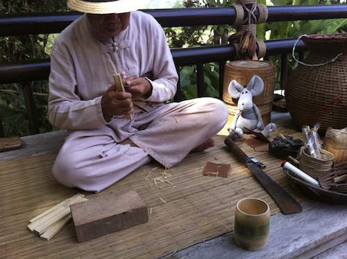 It is amazing what he can do with bamboo!!!