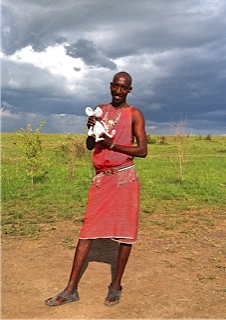 Item # 2 - a really  good guide - in this case, Daniel Koya, Maasai guide from Mara Plains Camp did the trick.