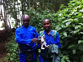 These are the porters that carried me in......they used to be poachers.....but have now found alternative and more helpful employment.......I was grateful.......