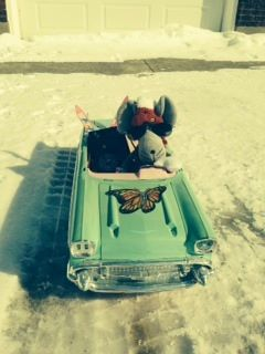 Love my new convertible……I am going to Sochi in style!!!