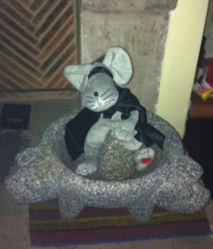 Mouse in the Molcajete